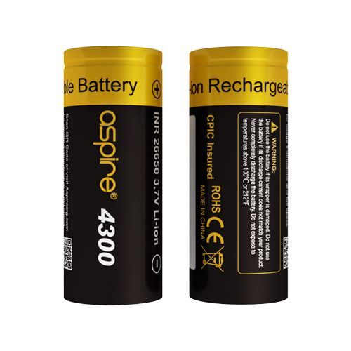 Aspire 26650 Battery(4300mAh)